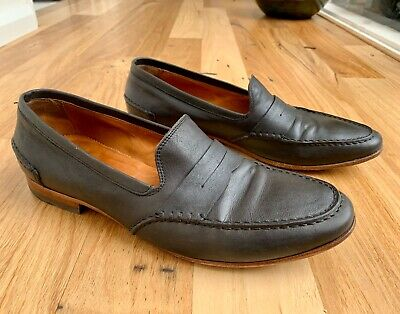 Alexander McQueen Italian leather mens shoes size 44 slip on style