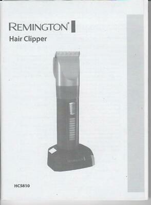 Bedienungsanleitung für Remington HC5810 Hair Clipper Genius