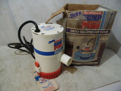 Vintage Disston 2800 High Performance Utility Sump Pump 2800 GPM USA Made