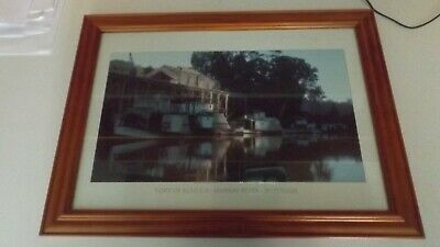 Paddle Steamer Picture in Frame. Port of Echuca, Australia.