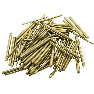 100 x Clock taper pins BRASS assorted mix sizes pin tapered repairs parts