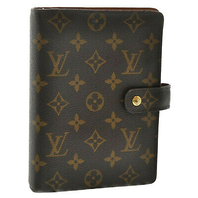 LOUIS VUITTON Monogram Agenda MM Day Planner Cover R20105 LV Auth th345
