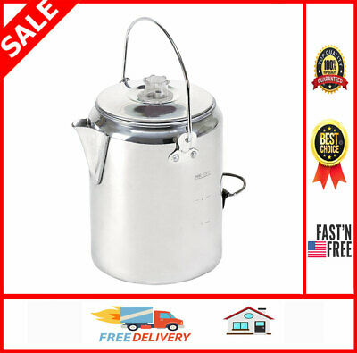 Outdoor Coffee Maker Camping Pot Stove Top Percolator Parts Vintage Cookset Set