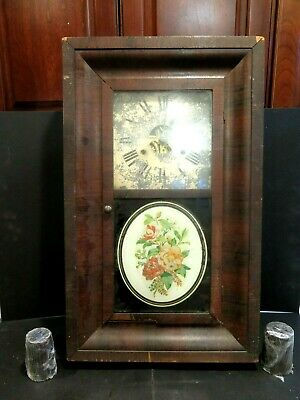 Antique 1860's SETH THOMAS CO. OGEE OG Mahogany Weight Driven Clock