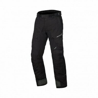 Macna Quga Waterproof Textile Trousers - BLACK