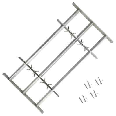 vidaXL Adjustable Security Grille for Windows with 3 Crossbars 700-1050mm Safe