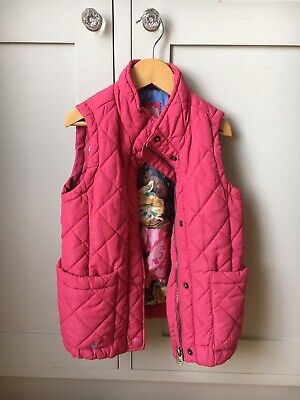 Joules Girls Gilet with Floral Lining, Size 7 years