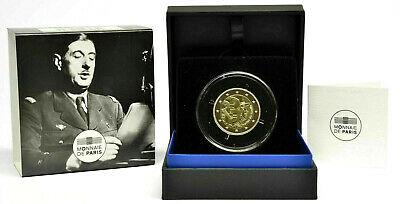 FRANCIA 2 Euro 2020 PROOF General CHARLES DE GAULLE