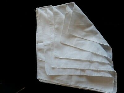 """5 X WHITE MUSLIN SQUARES BABY MUSLINS CLOTHS NAPPY INSERTS 14"""" square"""