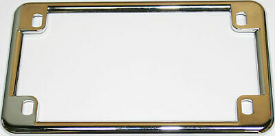 """Chrome USA Motorcycle License Plate Frame  7.25"""" OD x 4.2"""" Height NEW!"""
