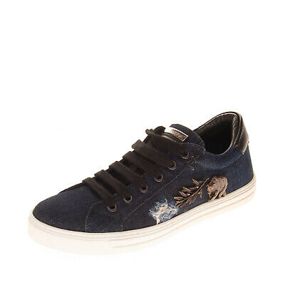 RRP€485 DSQUARED2 Denim Sneakers EU 36 UK 3 US 6 Distressed Style Embellishments