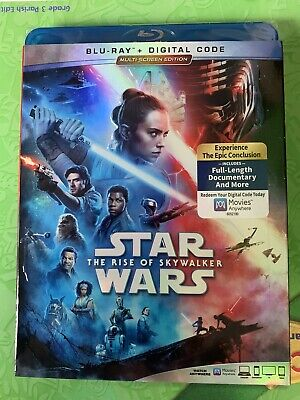 Star Wars the rise of Skywalker DVD Blu Ray Digital Code New