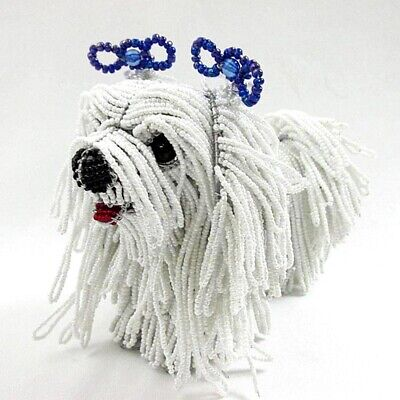 Daisy The Maltese Glass Beaded Sculpture