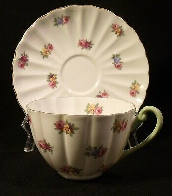 Shelley  Dainty Rosebud England Fine Bone China Cup And Saucer Set #26