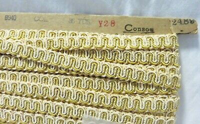 Nos 13 Yards Conso Gold Color Gimp Upholstery Trim Y28 Color