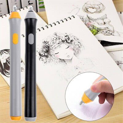 Electric Pencil Eraser Kit Highlights Sketch Drawing W/22pcs Replacement Refills