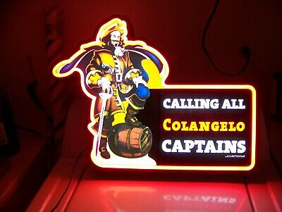 Vintage 2006 CAPTAIN MORGAN RUM Faux Neon Light-Up Electric Store Display Sign