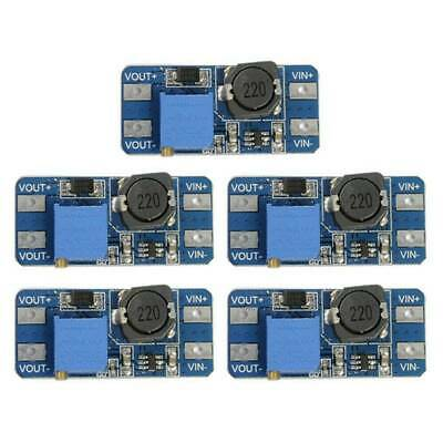 5 pcs 2ADC-DC MT3608 Step-up Adjustable Power Supply Boost Module Converter