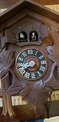 Vintage  Mvmt E. SCHMECKENBECHER German Cuckoo Clock. For parts or repair