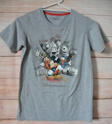 Disneyland Paris Pixar T Shirt Size 12 Kids Grey Incredibles Toy Story Monsters
