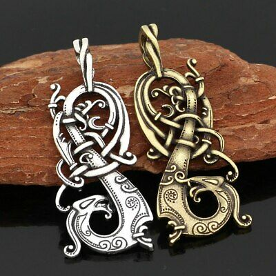 Viking Norse Charm Knot Pagan The  Dragon Scandinavian Necklace Norse Jewelry