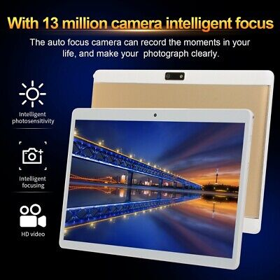 "10.1"" Tablet PC SIM Camera WIFI Wireless HD Screen 8G & 128GB Android 9.0"