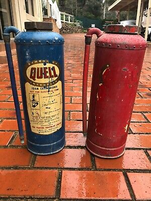 Vintage 1960s Industrial Funky Copper Fire Extinguishers      Eltham North