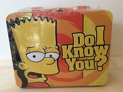 The Simpsons, collector metal lunchbox, Playworks International, 2008,sealed new