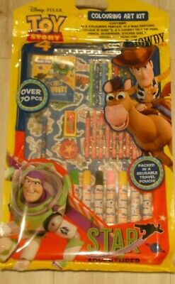 Toy Story Disney Colouring Set - Kids Carry Case Drawing Craft Travel Stationery