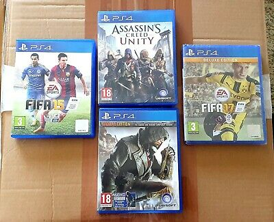 Playstation 4 Ps4 Games Bundle Assassins Creed Unity Syndicate Fifa