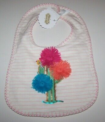 Mud Pie Bib Girls Floral Cactus Design New with Tags