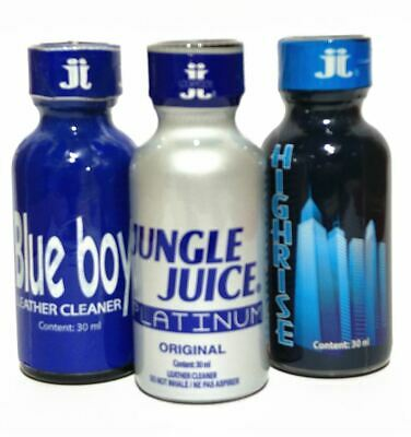 3 PACK of ORIGINAL LEATHER CLEANERS (BLUE BOY + JUNGLE JUICE PLATINUM+ HIGHRISE)