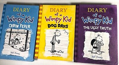 Lot of 3 Diary of a Wimpy Kid 2 Hard Cover 1 Soft Cover