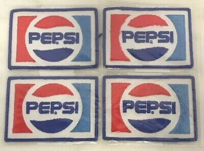 Lot Of 4 NOS Vintage PEPSI Cola Beverage Sofa Drink Advertising Uniform Patches