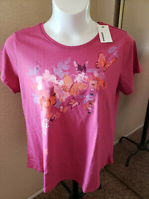 Women's NWT SONOMA Goods For Life Size XXL Butterflies Scoop Neck