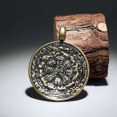 Collectable China Old Bronze Hand-Carved Twelve Zodiac Moral Auspicious Pendant