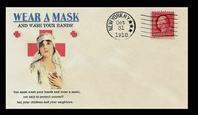 1918 Wash Your Hands Pandemic Envelope Reprint W 100 Year Old Stamp 1427