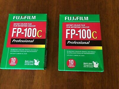 Two Boxes of FujiFilm FP-100C ISO 3.5x4.2 in Professional Instant Colour Film