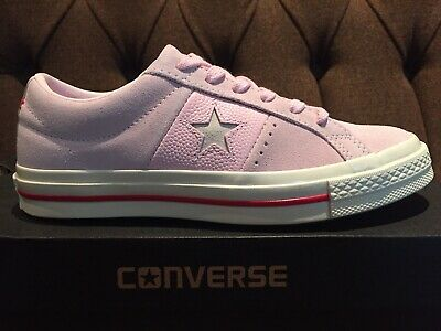 Converse One Star UK 5 Lo Trainers Pale Pink Suede Leather Brand New Unworn
