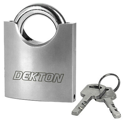 Dekton Closed Shackle High Security 50mm Padlock Anti Bolt Cutter Heavy Duty