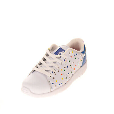 ASFVLT SUPER TENNIS Leather Sneakers Size 37 UK 4 US 7 Polka Dot Perforated