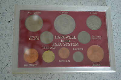 Great Britain Farewell to L.S.D. Coin Set