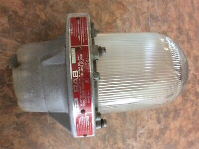 No EP12 Vintage RAB Electric MFG Co.Explosion Proof Industrial lightGlobe Cat