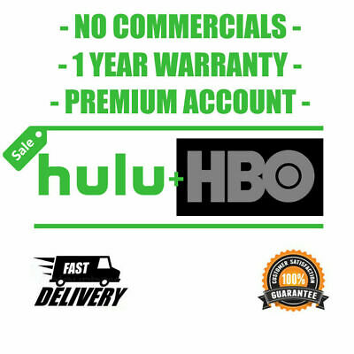 Hulu Premium + Hbo | No Commercial Account 1 Year | Fast Delivery