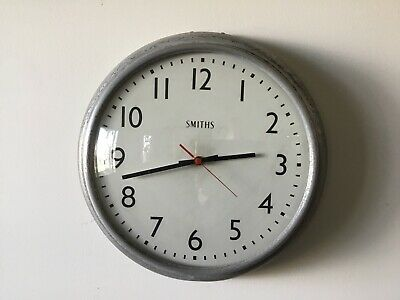 Vintage Smiths Large Wall Clock. 37cm. Runs Well.