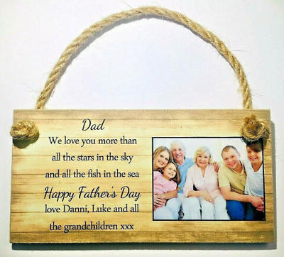 PERSONALISED ANY TEXT FATHER/'S DAY GIFT PLAQUE DAD STEP STEPDAD GRANDAD GRANDPA