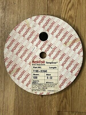 "8-32 x 0.164"" Tangless Helicoil Partial Spool 600 Pieces Minimum T1185-2C164S"