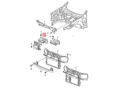 Genuine Air Guide Channel VW AUDI SEAT SKODA Polo Derby Vento-Ind 6C0805971