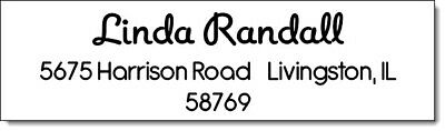 400 Personalized Name Return Address Labels  1/2 x 1.75 Inch Name Design #1