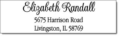 400 Personalized Name Return Address Labels  1/2 x 1.75 Inch Name Design #4